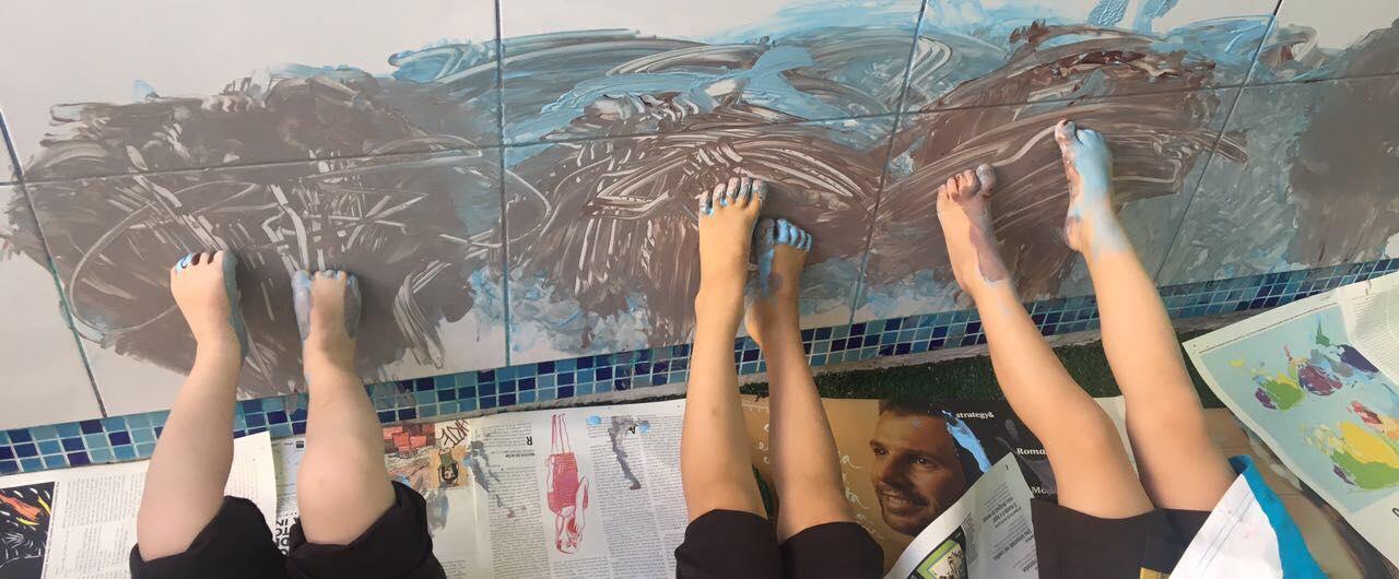 Arte com os pés