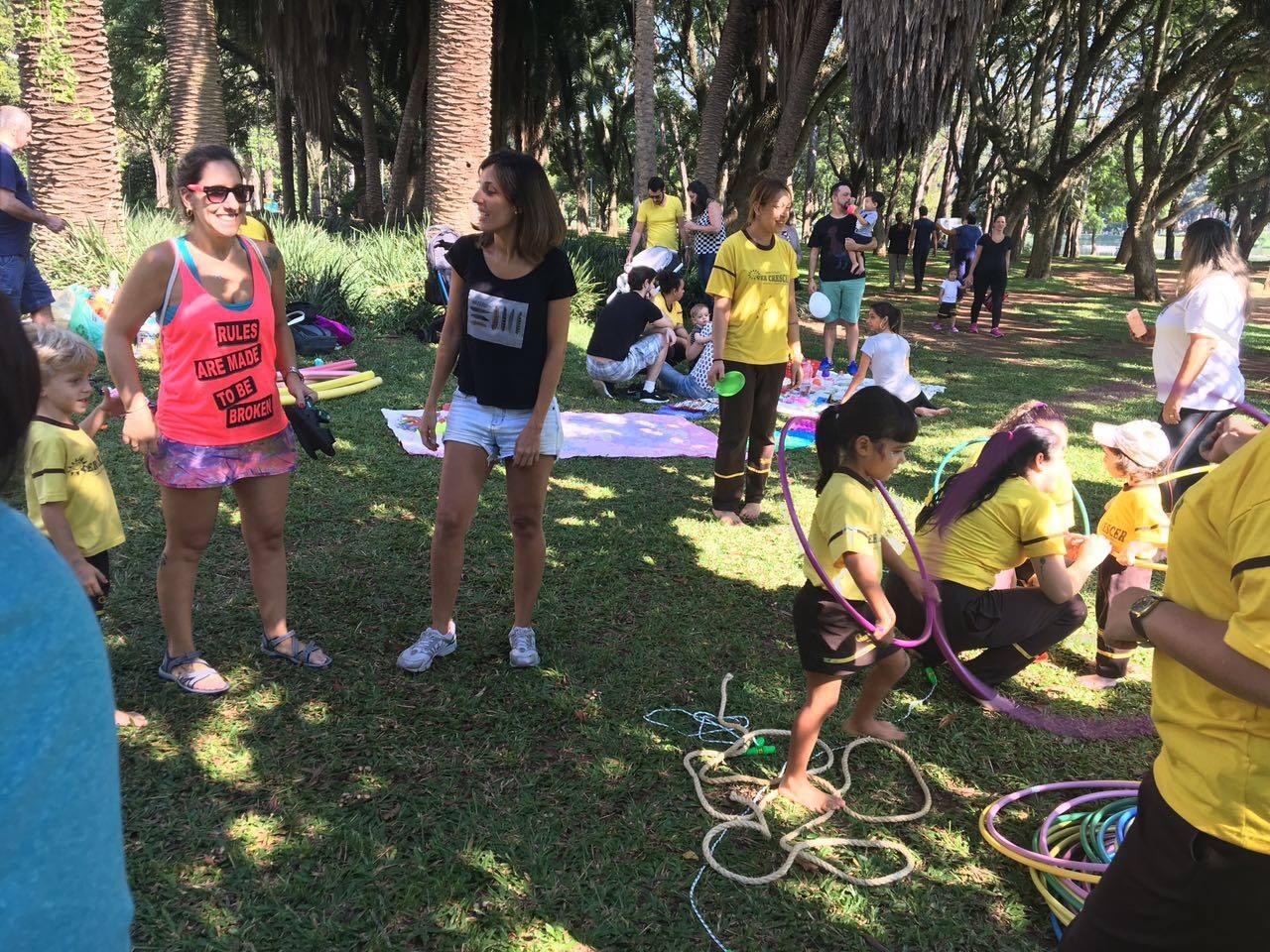 Atividade no Parque Ibirapuera
