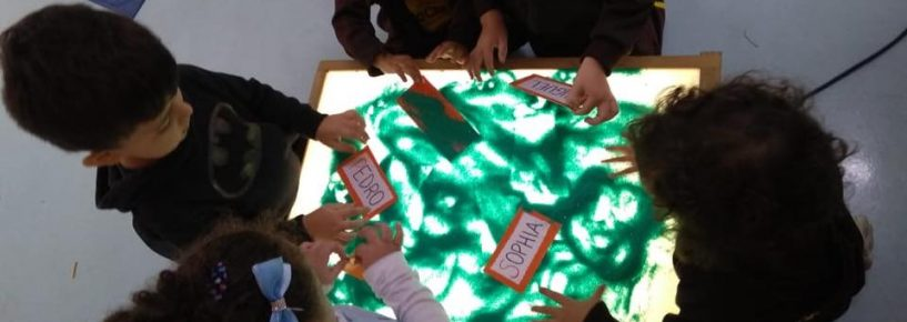 Atividades na mesa de luz