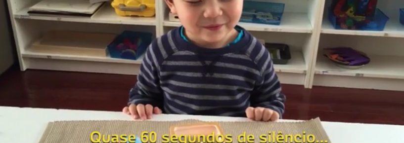 Jogo do Silêncio ensina crianças a terem calma e concentração